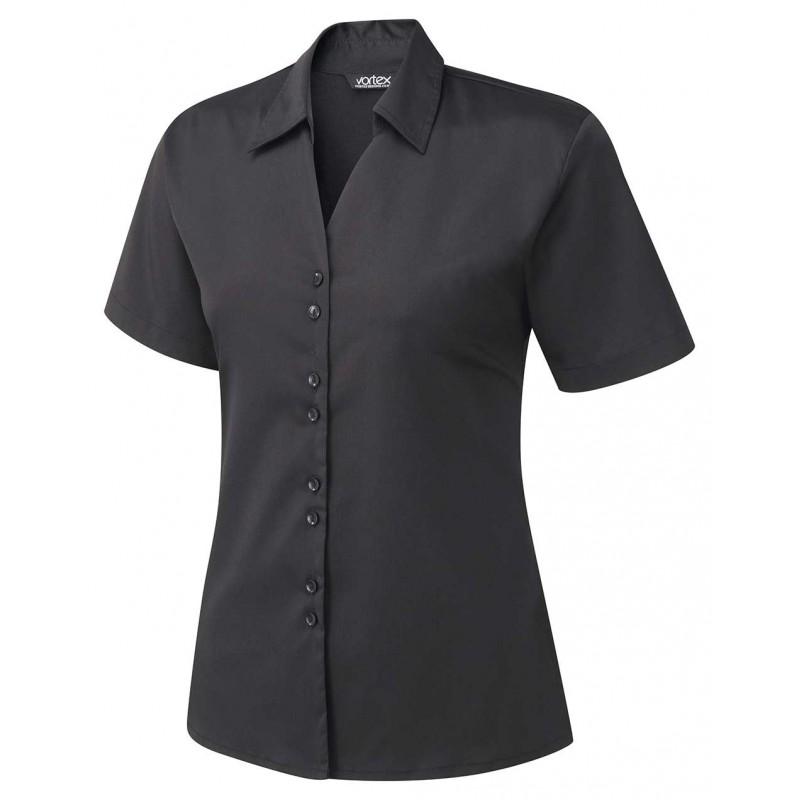 Knitwear Vortex Designs Freya Short Sleeve Black-VD-FREYA2801 £24.00