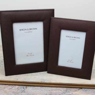 Frames Byron & Brown Vintage Leather Photo Frame-BB-1567675758 £25.00