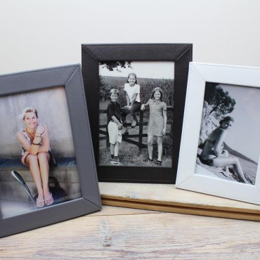 Picture Frames Byron & Brown Slim Classic Leather Picture Frames £5.00