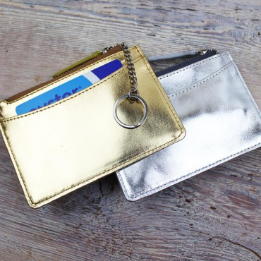 Wallets Byron & Brown Metallic Card And Key Purse-BB-1567437557 £12.00