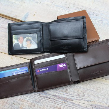 Wallets Byron & Brown Classic 9 Cards And Coin Pocket Tri Fold Wallet-BB-1567159874 £43.00