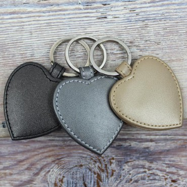 Keyrings Byron & Brown Pearlised Heart Keyring £7.00
