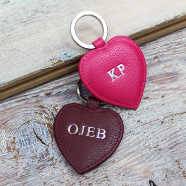 Keyrings Byron & Brown Textured Nappa Heart Key Ring-BB-1566487079 £7.00