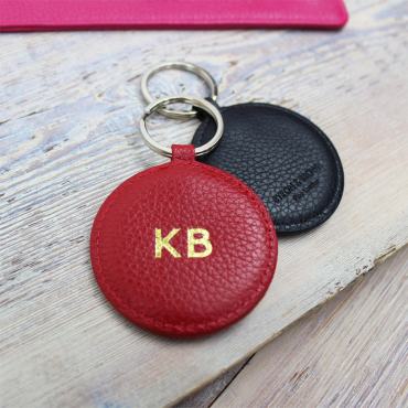 Keyrings Byron & Brown Textured Nappa Round Key Ring £10.00