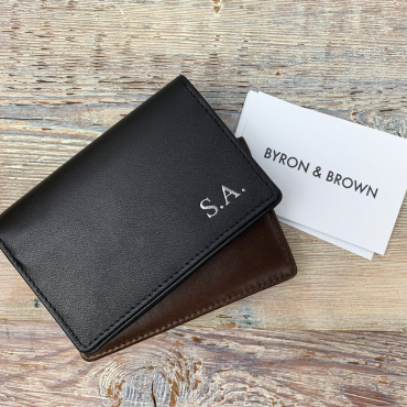 Card Holders Byron & Brown Leather Folding Business Card Case £22.00