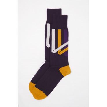 Men PEPER HAROW Ribbon Stripe Mens Socks - Mauve £15.00