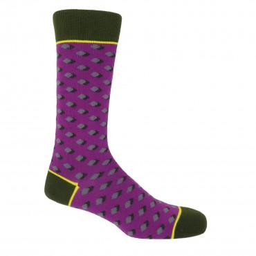 Men PEPER HAROW Disruption Mens Socks - Violet £15.00