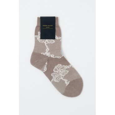 Women PEPER HAROW Delicate Womens Socks - Mink £15.00