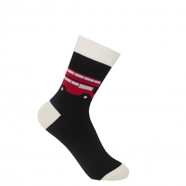 Women PEPER HAROW London Bus Womens Socks - Black £15.00
