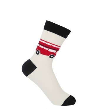 Women PEPER HAROW London Bus Womens Socks - Cream £15.00