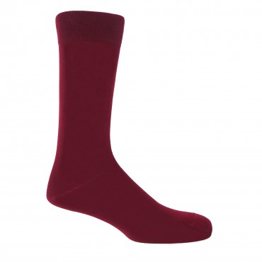 Men PEPER HAROW Classic Mens Socks - Burgundy £15.00