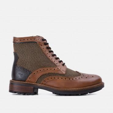 Bucking Good Shoes GoodwinSmith Sherwood Twill Tan Leather Brogue Boot £35.00