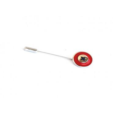 Pins Babette Wasserman Enamel Button Tie Pin Red £50.00
