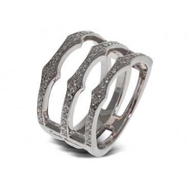 Rings Babette Wasserman Triple Spear Band Ring Silver £100.00