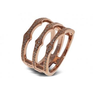 Rings Babette Wasserman Triple Spear Band Ring Rose Gold £130.00