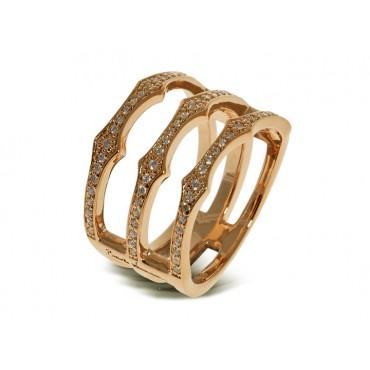 Rings Babette Wasserman Triple Spear Band Ring Gold £130.00