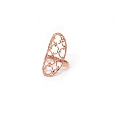 Precious Jewellery Babette Wasserman Oval Chandelier Diamond Ring Rose Gold £260.00