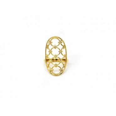 Precious Jewellery Babette Wasserman Oval Chandelier Diamond Ring Gold £310.00