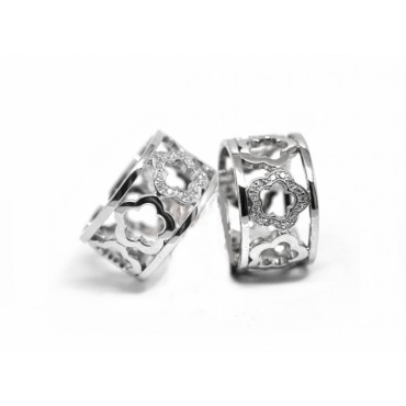 Rings Babette Wasserman Flower Ring Silver £95.00