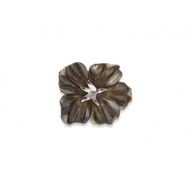 Pins Babette Wasserman Flower Pin Black Mother Of Pearl £60.00