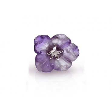 Pins Babette Wasserman Flower Pin Amethyst £60.00