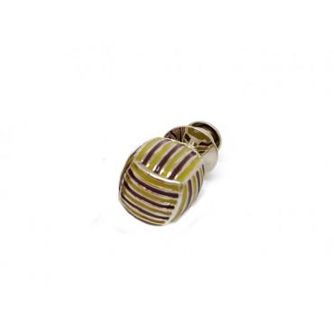 Pins Babette Wasserman Monkey Knot Pin Purple & Cream £45.00