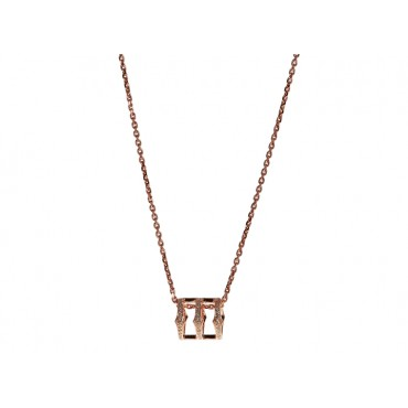 Necklaces Babette Wasserman Triple Spear Band Necklace Rose Gold £116.00