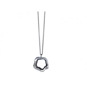 Necklaces Babette Wasserman Open Flower Necklace Crystal Silver £146.00