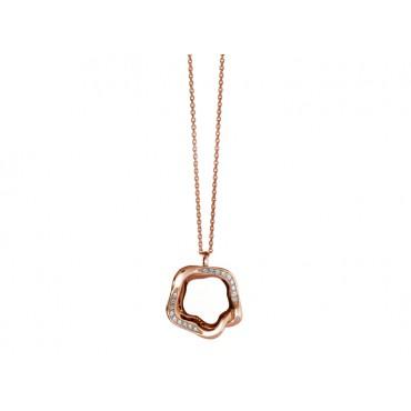 Necklaces Babette Wasserman Open Flower Necklace Crystal Rose Gold £160.00