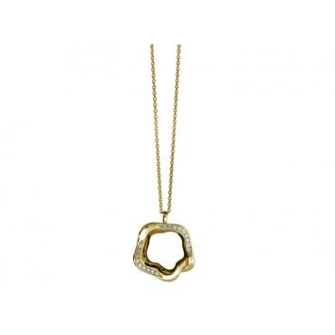 Necklaces Babette Wasserman Open Flower Necklace Crystal Gold £160.00
