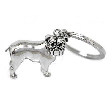 Key Rings Babette Wasserman Bulldog Key Ring Rhodium £73.00