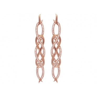 Earrings Babette Wasserman Poison Ivy Small Earrings Rose Gold £153.00