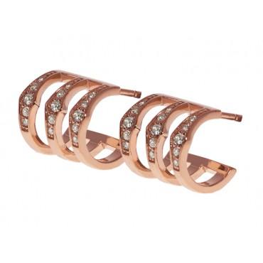 Earrings Babette Wasserman Triple Spear Earrings Rose Gold £103.00