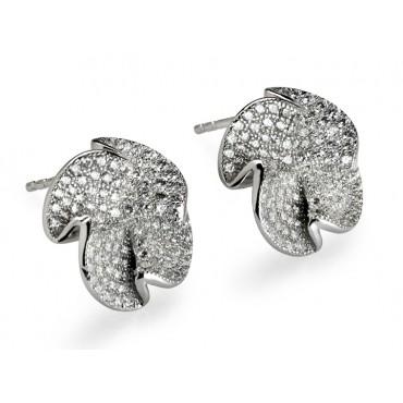 Earrings Babette Wasserman Jagged Rose Earrings Silver £145.00