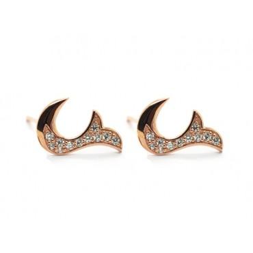 Earrings Babette Wasserman Flame Crystal Earrings Rose Gold £85.00