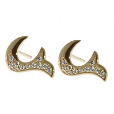 Earrings Babette Wasserman Flame Crystal Earrings Gold £85.00