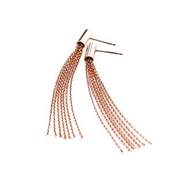 Earrings Babette Wasserman Scarf Knot Earrings Rose Gold £60.00