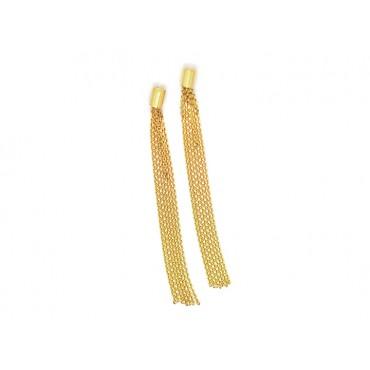 Earrings Babette Wasserman Scarf Knot Earrings Gold £60.00