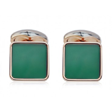Cufflinks Babette Wasserman Key Stone Cufflinks Green Agate £73.00