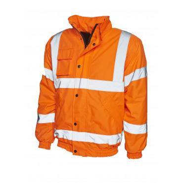 Jackets Uneek Clothing Uc804 High Visibility Bomber Jacket £21.00