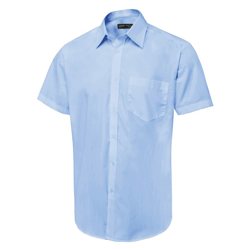 Shirts Uneek Clothing Uc714 Mens Tailored Fit Short Sleeve Poplin Shirt £11.00