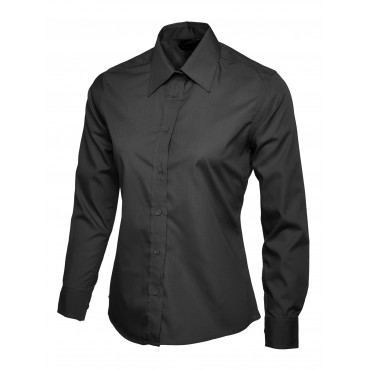 Shirts Uneek Clothing Uc711 Ladies Poplin Full Sleeve Shirt £12.00