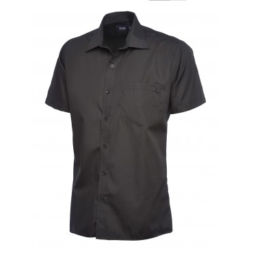 Shirts Uneek Clothing Uc710 Mens Poplin Half Sleeve Shirt £11.00