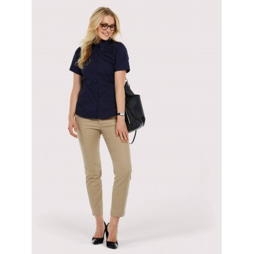 Shirts Uneek Clothing Uc704 Ladies Pinpoint Oxford Half Sleeve Shirt £14.00