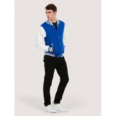 Jackets Uneek Clothing Uc525 Mens Varsity Jacket £20.00