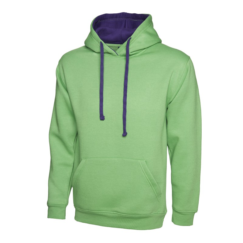 Sweatshirts Uneek Clothing Uc507 Contrast Hooded Sweatshirt £16.00