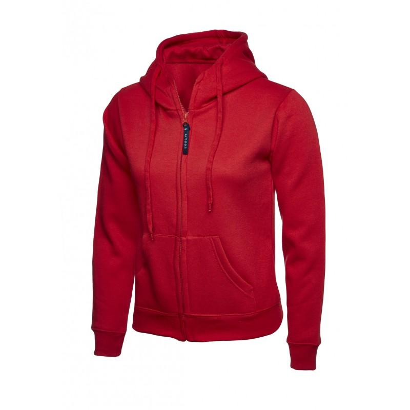 Sweatshirts Uneek Clothing Uc505 Ladies Classic Full Zip Hooded Sweatshirt £16.00