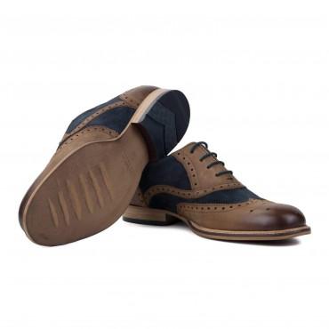 Men's Footwear GoodwinSmith Edwood Navy And Tan £35.00