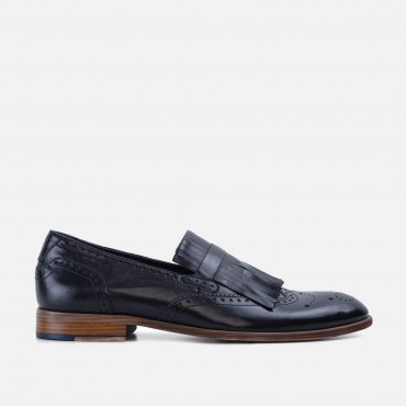 Men's Footwear GoodwinSmith Mens Sebastian Black Fringe Loafer £66.00