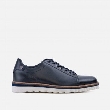 New Arrivals - SS20 GoodwinSmith Mens Dante Navy Wedge Derby £70.00